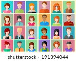 illustration of flat design... | Shutterstock .eps vector #191394044