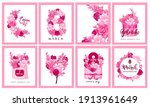 8 march holiday card with...   Shutterstock .eps vector #1913961649