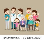 doctor and happy family with...   Shutterstock .eps vector #1913966539