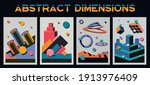 abstract dimensions ... | Shutterstock .eps vector #1913976409
