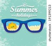 summer paradise beach... | Shutterstock .eps vector #191399213