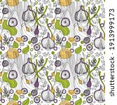 Seamless Pattern Of Vegetables...