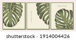 wall art brochure  card design. ... | Shutterstock .eps vector #1914004426