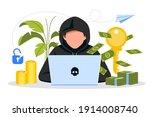 hacker activity. hacking... | Shutterstock .eps vector #1914008740