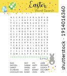 easter word search puzzle....   Shutterstock .eps vector #1914016360