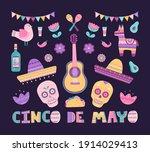 cinco de mayo big set with... | Shutterstock .eps vector #1914029413