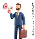 3d illustration of cartoon... | Shutterstock . vector #1914036619