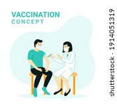 vaccination concept for immune... | Shutterstock .eps vector #1914051319