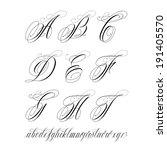 handmade vector calligraphy...   Shutterstock .eps vector #191405570