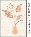 vector pampas grass panicles... | Shutterstock .eps vector #1914061840