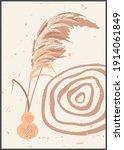 vector pampas grass panicles...   Shutterstock .eps vector #1914061849