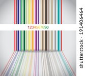 Abstract Colorful Barcode...