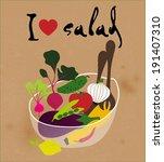 I Love Vegetable Salad