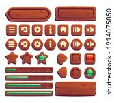 wooden buttons for ui game  gui ...
