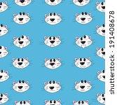funny cartoon cats.  seamless... | Shutterstock .eps vector #191408678
