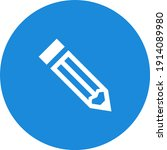 flat styled editing pencil icon ...