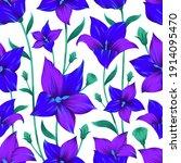 modern flower seamless pattern... | Shutterstock .eps vector #1914095470
