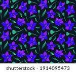 modern flower seamless pattern... | Shutterstock .eps vector #1914095473