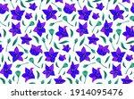 modern flower seamless pattern... | Shutterstock .eps vector #1914095476