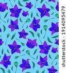 modern flower seamless pattern... | Shutterstock .eps vector #1914095479