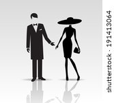 vector silhouettes of lady and...   Shutterstock .eps vector #191413064