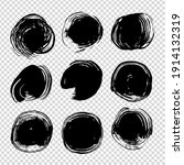 black abstract round thick... | Shutterstock .eps vector #1914132319