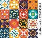 vintage tiles vector background.... | Shutterstock .eps vector #1914133843