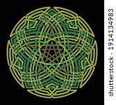 Red Pentagram Vector Pattern...