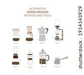 alternative coffee brewing... | Shutterstock .eps vector #1914143929