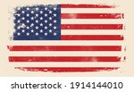 distressed usa flag  american... | Shutterstock .eps vector #1914144010
