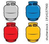 gas cylinder vector tank. lpg...   Shutterstock .eps vector #1914157900