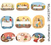 people and families celebrating ... | Shutterstock .eps vector #1914159736