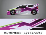 racing car decal wrap design.... | Shutterstock .eps vector #1914173056