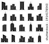 skyscraper set icon  logo...   Shutterstock .eps vector #1914178543