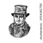 old man in a vintage suit. poor ... | Shutterstock .eps vector #1914181750