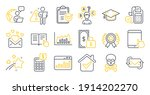 set of education icons  such as ... | Shutterstock .eps vector #1914202270