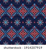 oriental vector damask pattern. ... | Shutterstock .eps vector #1914207919