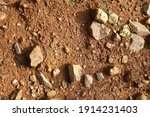 wet ground  yellow soil and... | Shutterstock . vector #1914231403