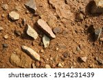 wet ground  yellow soil and... | Shutterstock . vector #1914231439