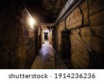 Dark Creepy Old Corridor Of...