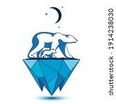 polar bear with little bear cub ...   Shutterstock .eps vector #1914238030