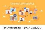 arabic businesspeople in web... | Shutterstock .eps vector #1914238270