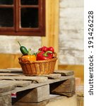 vegetables in the basket  ... | Shutterstock . vector #191426228