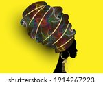portrait beautiful african... | Shutterstock .eps vector #1914267223