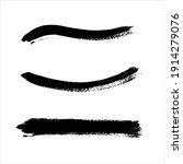 art black ink abstract brush... | Shutterstock .eps vector #1914279076