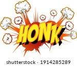comic speech bubble with honk...   Shutterstock .eps vector #1914285289