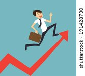businessman jump over growing... | Shutterstock .eps vector #191428730