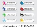 social media lower third set... | Shutterstock .eps vector #1914304330