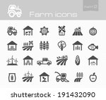 farm icons part 2 | Shutterstock .eps vector #191432090