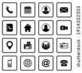 web icon set vector sign symbol ... | Shutterstock .eps vector #1914332503